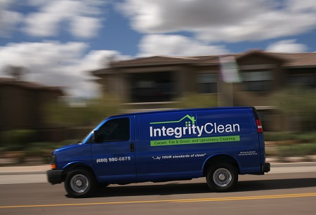 Integrity Clean van on the move